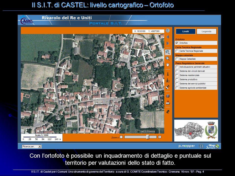 Il S.I.T. di CASTEL: livello cartografico – Ortofoto _________________________________________________________________________________________________