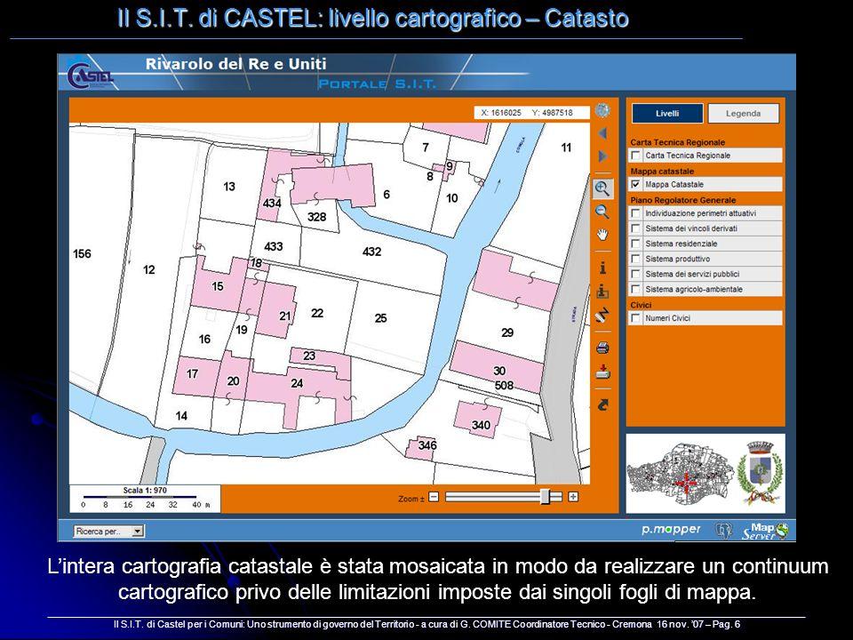 Il S.I.T. di CASTEL: livello cartografico – Catasto __________________________________________________________________________________________________