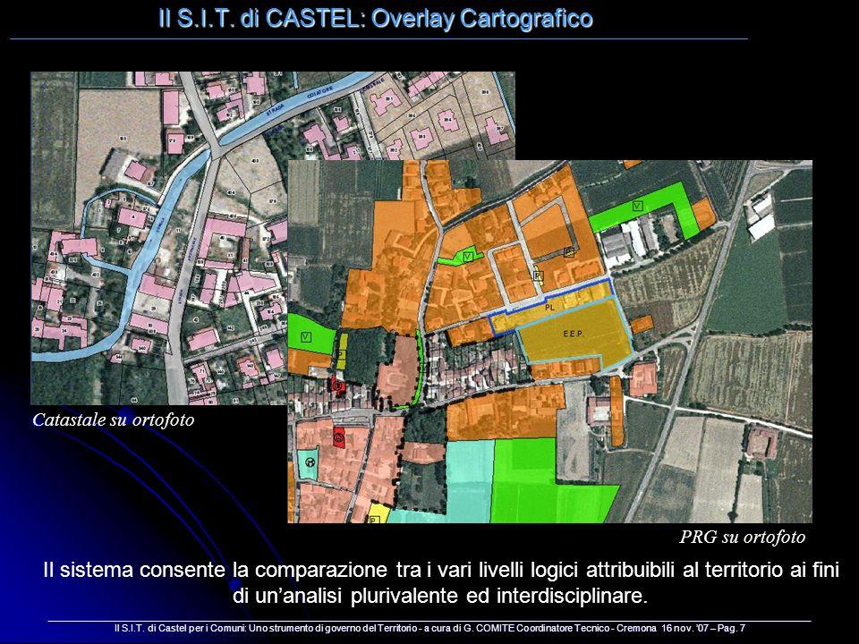 Il S.I.T. di CASTEL: Overlay Cartografico ____________________________________________________________________________________________________________