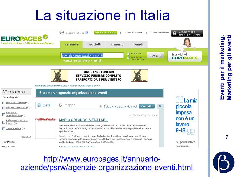 Eventi per il marketing. Marketing per gli eventi 68 http://www.linkedin.com/in/paolapittoni