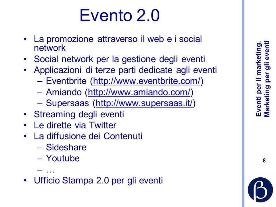Eventi per il marketing.