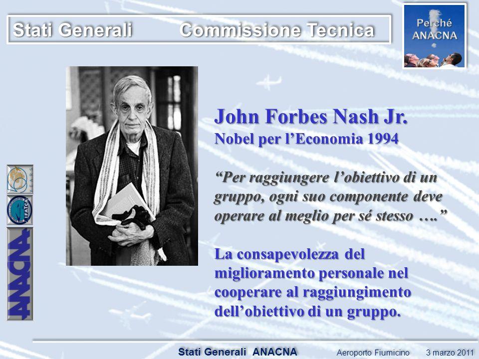 Stati Generali ANACNA Aeroporto Fiumicino 3 marzo 2011 Stati Generali Commissione Tecnica John Forbes Nash Jr.