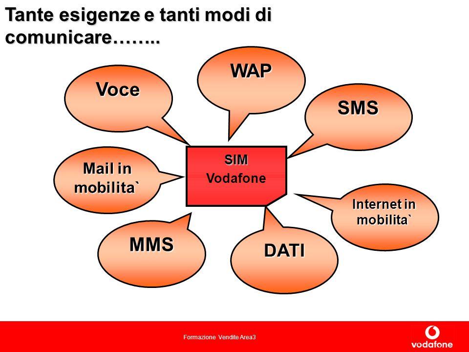 Formazione Vendite Area3 SIM Vodafone Tante esigenze e tanti modi di comunicare……..