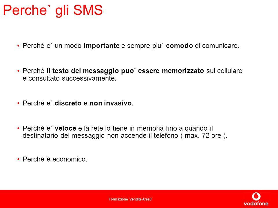 Formazione Vendite Area3 Perche` gli SMS Perchè e` un modo importante e sempre piu` comodo di comunicare.