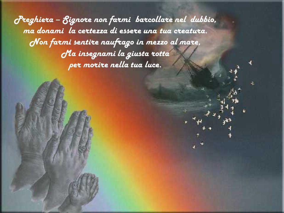 Preghiera – Signore non farmi barcollare nel dubbio, ma donami la certezza di essere una tua creatura.