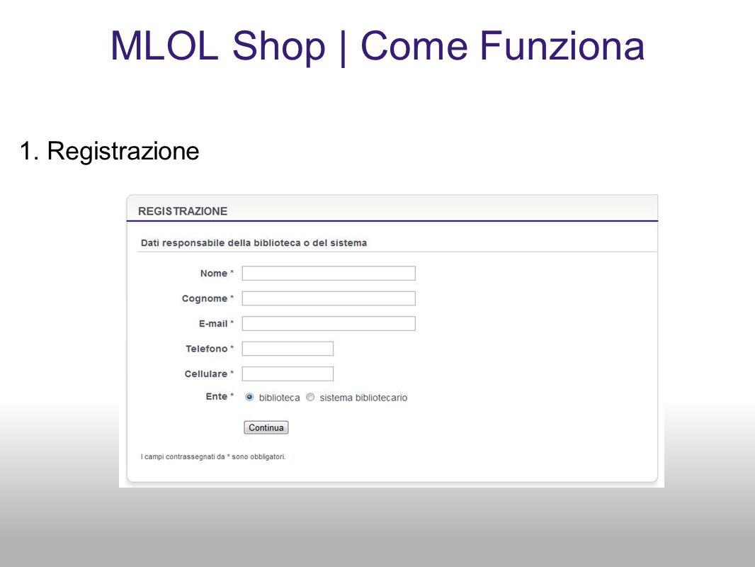 MLOL Shop | Come Funziona 1. Registrazione