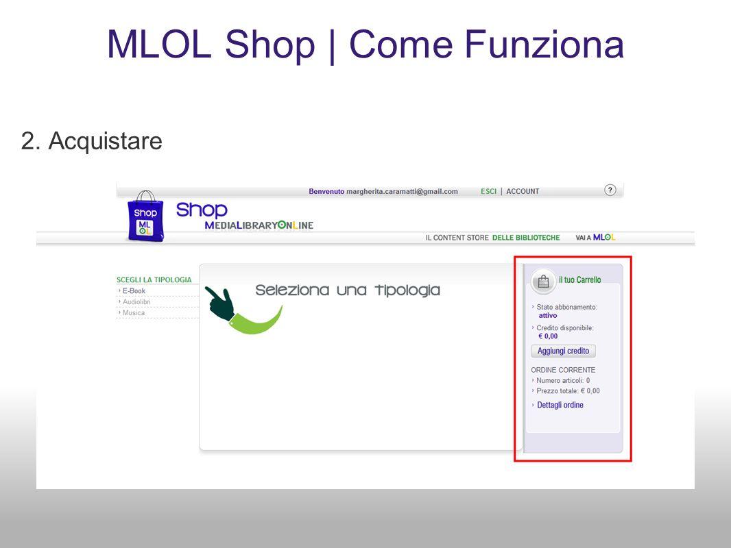 MLOL Shop | Come Funziona 2. Acquistare
