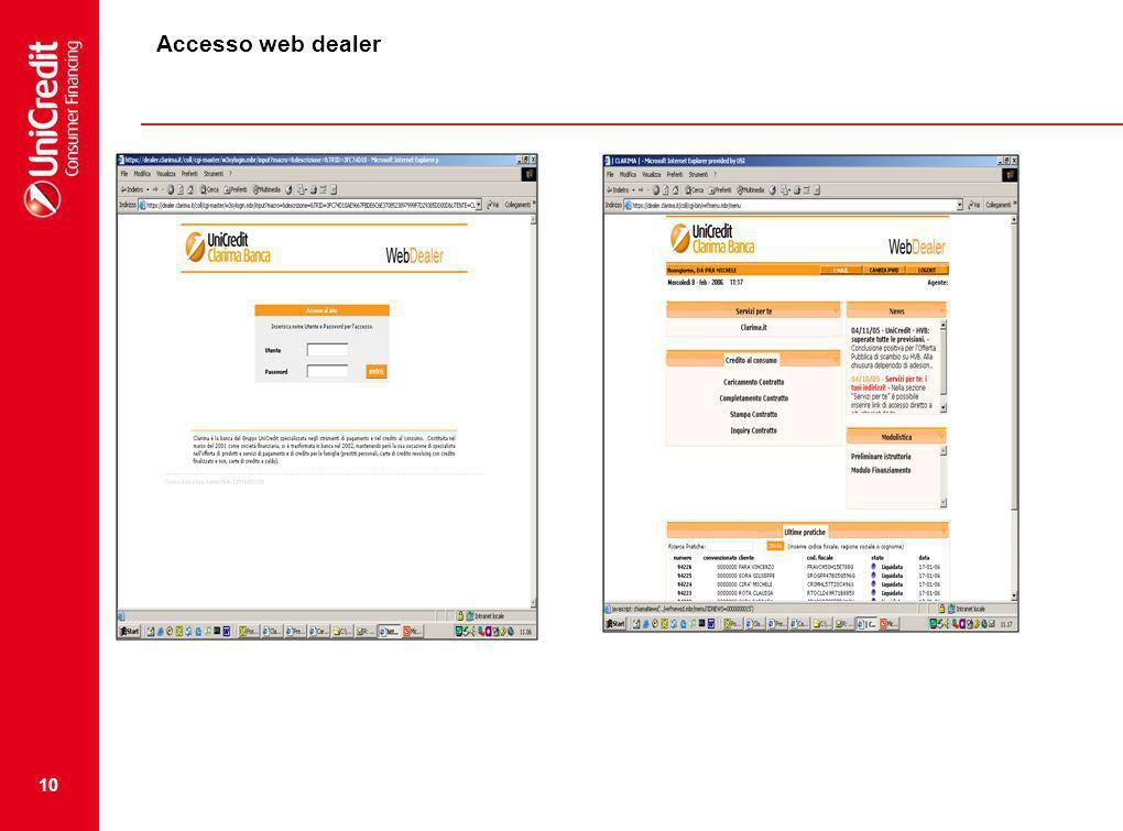 10 Accesso web dealer