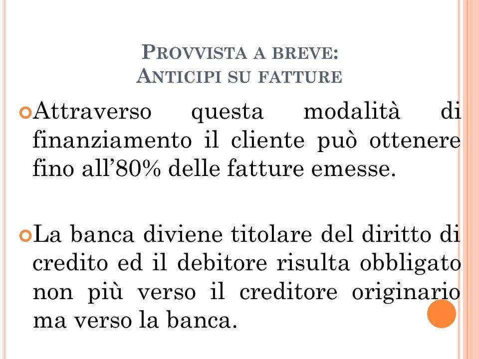 P ROVVISTA A MEDIO LUNGO / TERMINE.