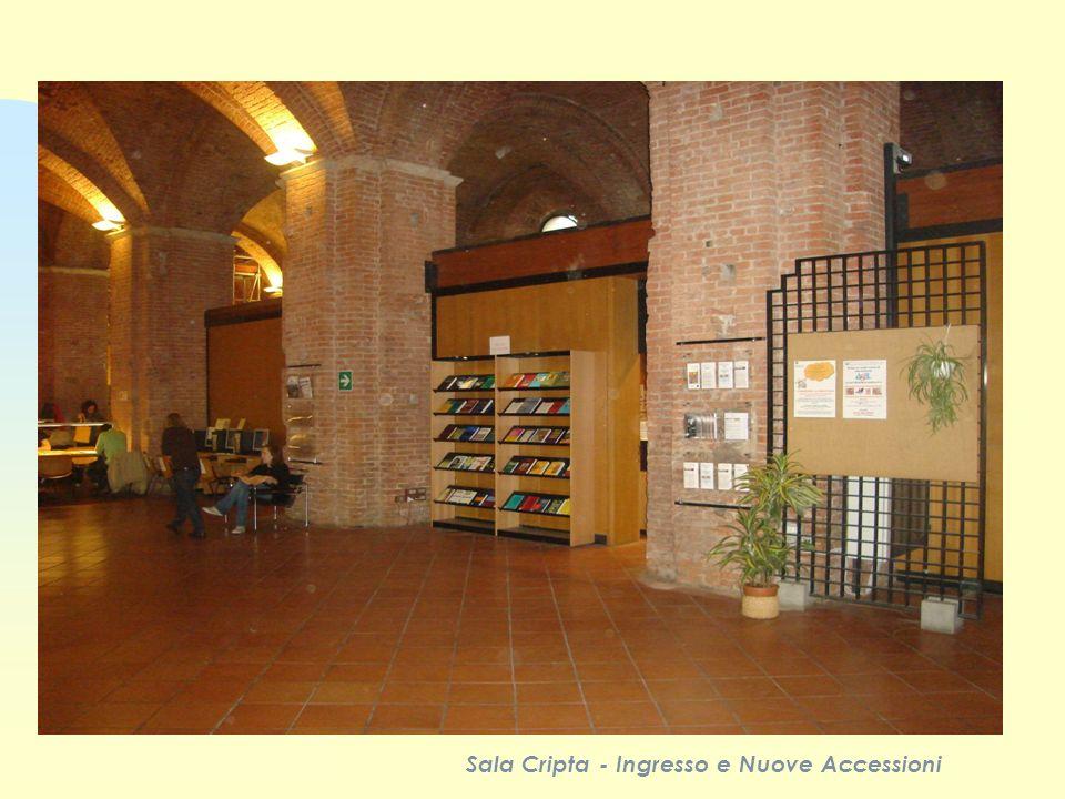 Sala Cripta - Ingresso e Nuove Accessioni