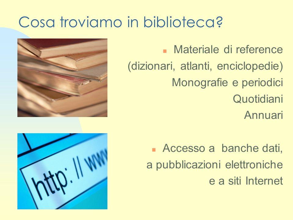 Lettura in sede Orario 8.30-19.30 dal lunedì al venerdì 8.30-13.30 il sabato Il servizio consente di avere in lettura tutto il materiale conservato in Biblioteca.