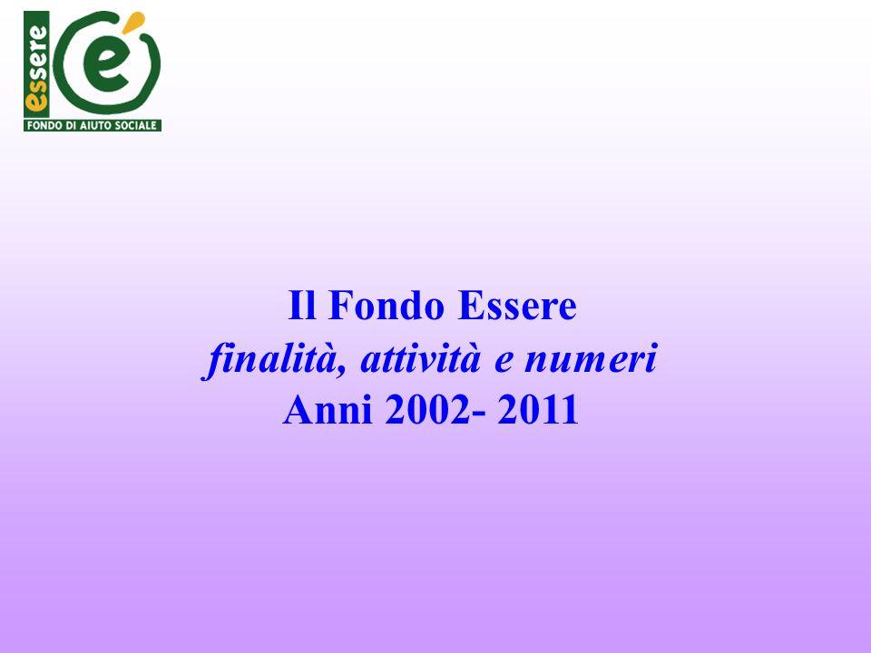 Il Fondo Essere finalità, attività e numeri Anni 2002- 2011