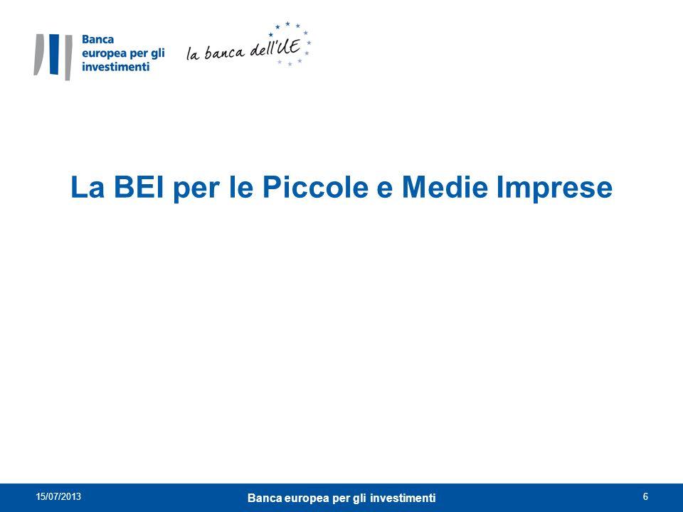 Le PMI: una priorità istituzionale per la BEI.