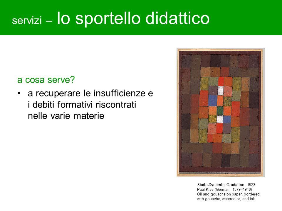 servizi – lo sportello didattico a cosa serve? a recuperare le insufficienze e i debiti formativi riscontrati nelle varie materie Static-Dynamic Grada