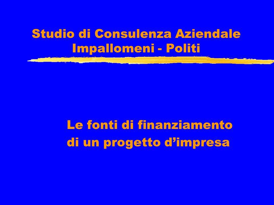 Studio di Consulenza Aziendale Impallomeni - Politi Le fonti di finanziamento di un progetto dimpresa