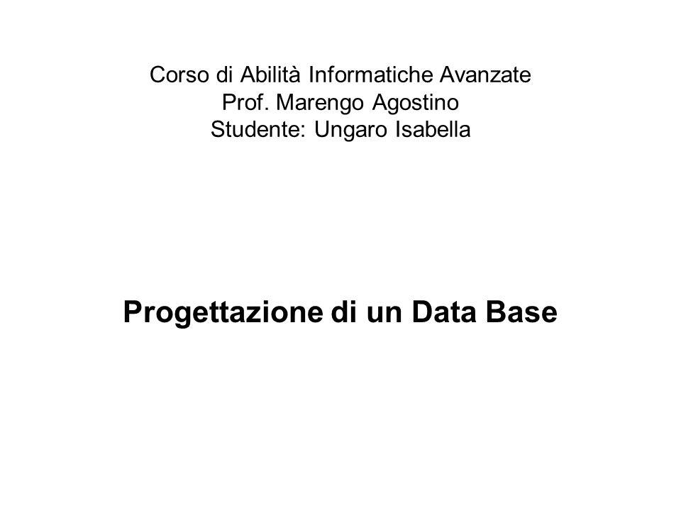 Corso di Abilità Informatiche Avanzate Prof.
