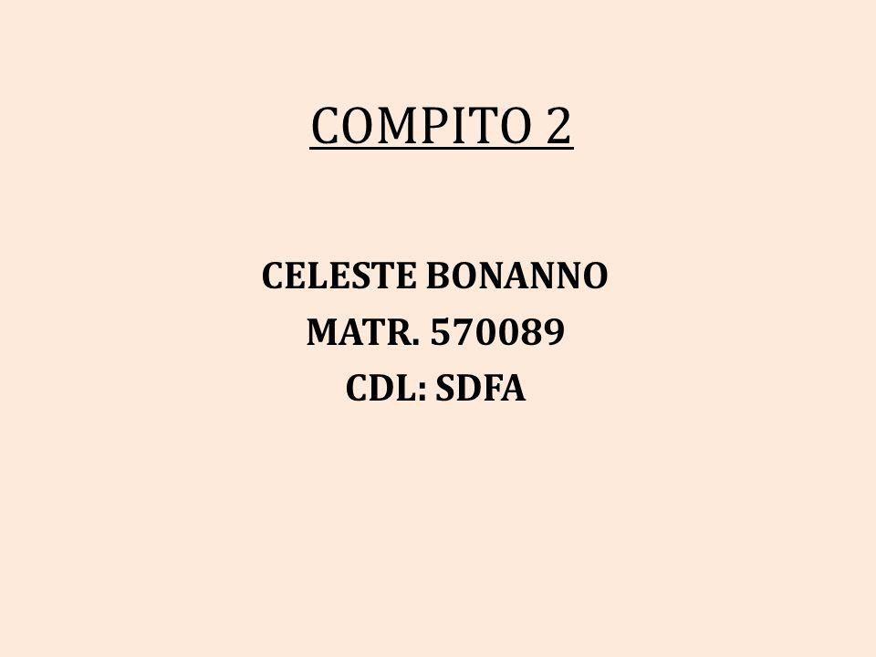 COMPITO 2 CELESTE BONANNO MATR. 570089 CDL: SDFA