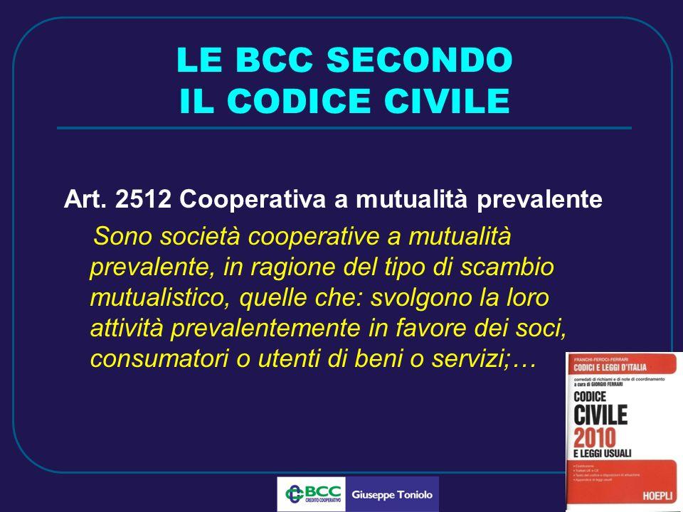 LUG 2010 LE BCC SECONDO IL CODICE CIVILE Art.