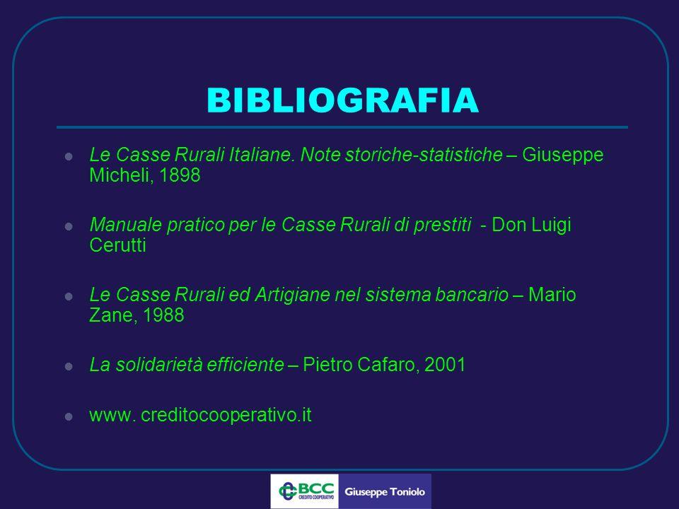 LUG 2010 BIBLIOGRAFIA Le Casse Rurali Italiane.
