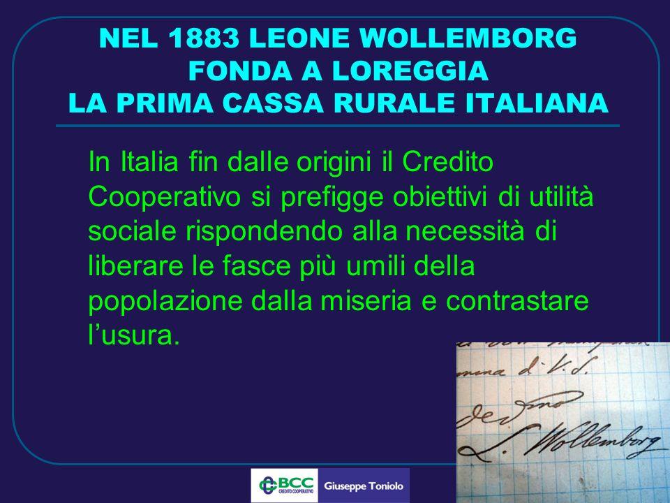 LUG 2010 LE CASSE RURALI CATTOLICHE Luigi Cerutti, consacrato sacerdote nel 1888, fonda a Gambarare, nel febbraio del 1890 la prima Cassa Rurale cattolica.