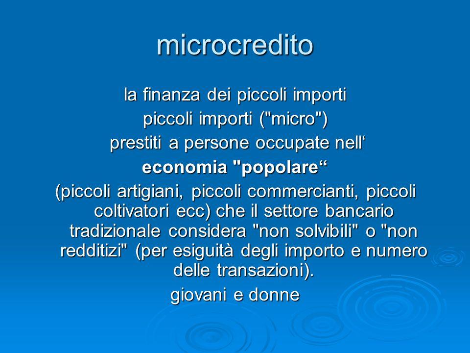 microcredito la finanza dei piccoli importi piccoli importi (
