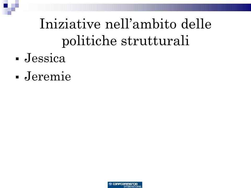 Iniziative nellambito delle politiche strutturali Jessica Jeremie