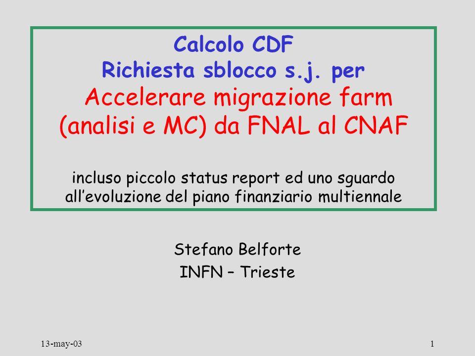 13-may-031 Calcolo CDF Richiesta sblocco s.j.