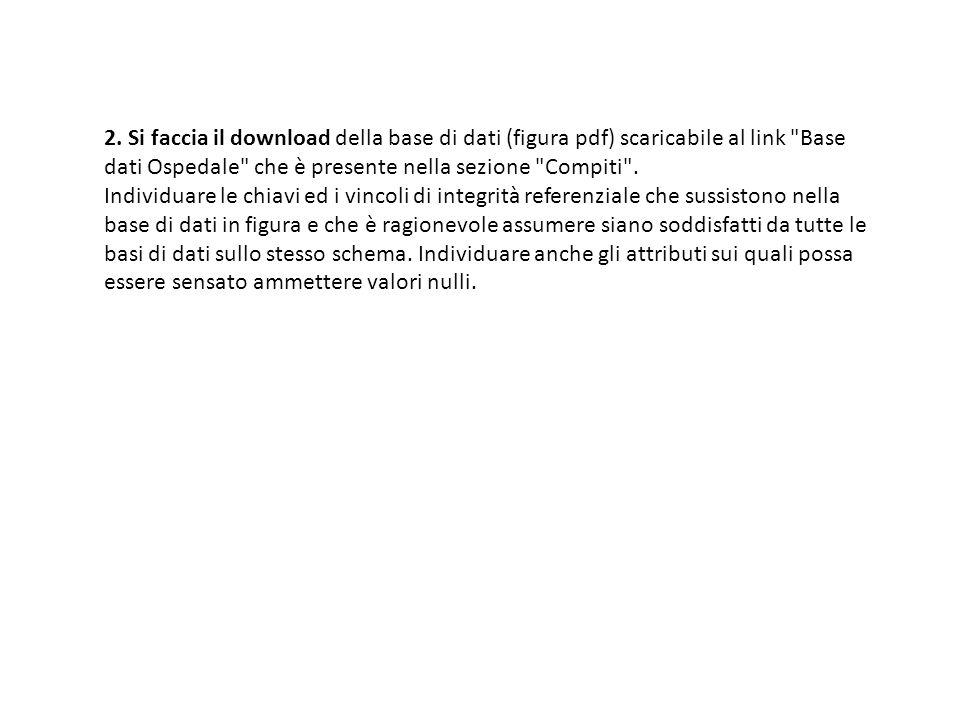 2. Si faccia il download della base di dati (figura pdf) scaricabile al link