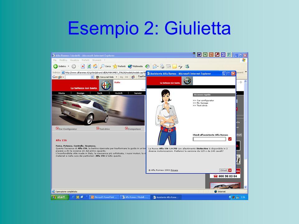Esempio 2: Giulietta