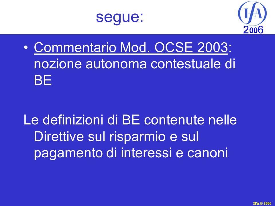 IFA © 2003 2 00 6 segue: Commentario Mod.