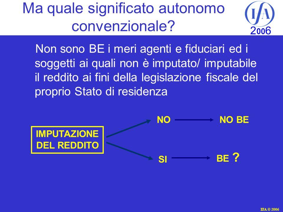 IFA © 2003 2 00 6 Ma quale significato autonomo convenzionale.