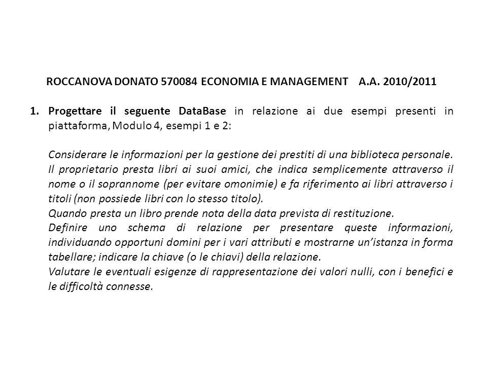 ROCCANOVA DONATO 570084 ECONOMIA E MANAGEMENT A.A.