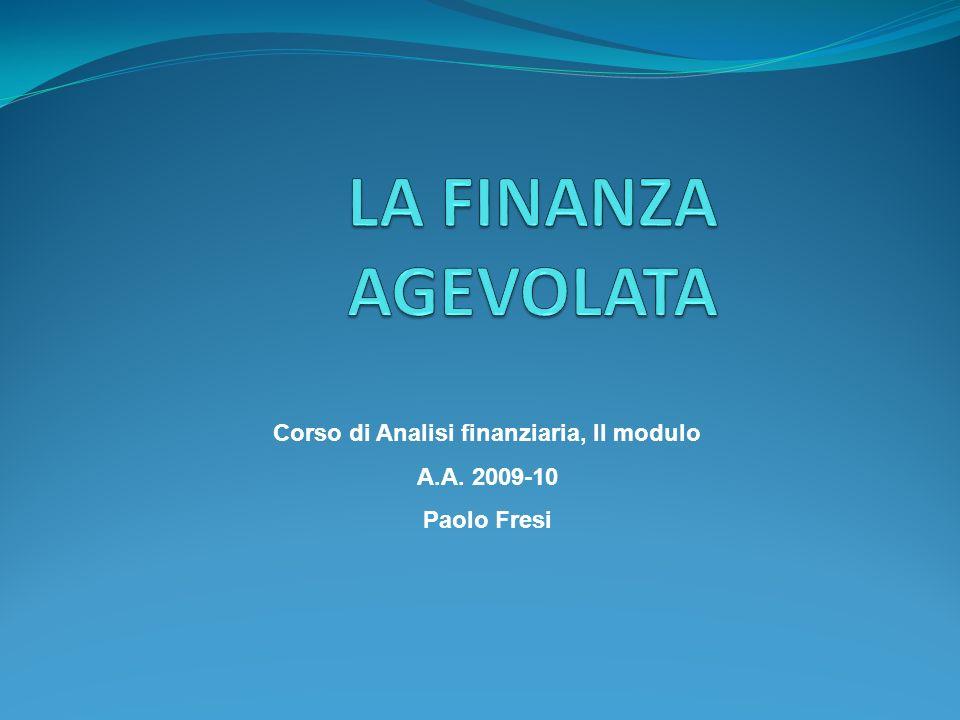 Corso di Analisi finanziaria, II modulo A.A. 2009-10 Paolo Fresi