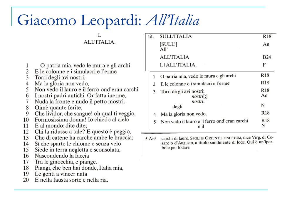 Giacomo Leopardi: AllItalia