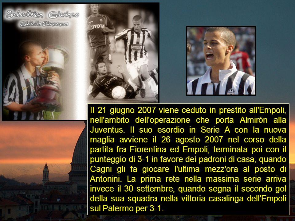 Il 21 giugno 2007 viene ceduto in prestito all'Empoli, nell'ambito dell'operazione che porta Almirón alla Juventus. Il suo esordio in Serie A con la n