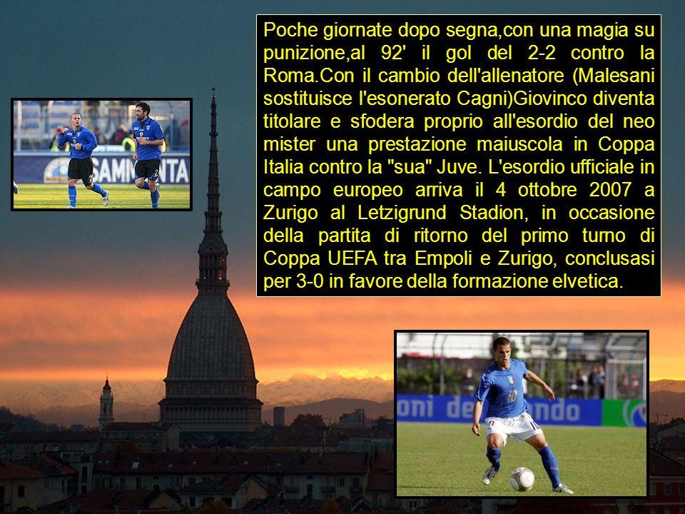 Poche giornate dopo segna,con una magia su punizione,al 92' il gol del 2-2 contro la Roma.Con il cambio dell'allenatore (Malesani sostituisce l'esoner
