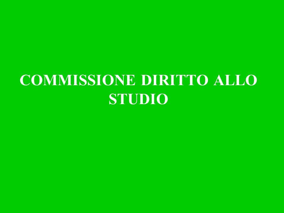 COMMISSIONE DIRITTO ALLO STUDIO
