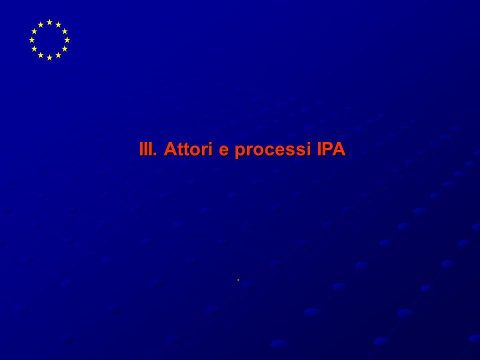 . III. Attori e processi IPA