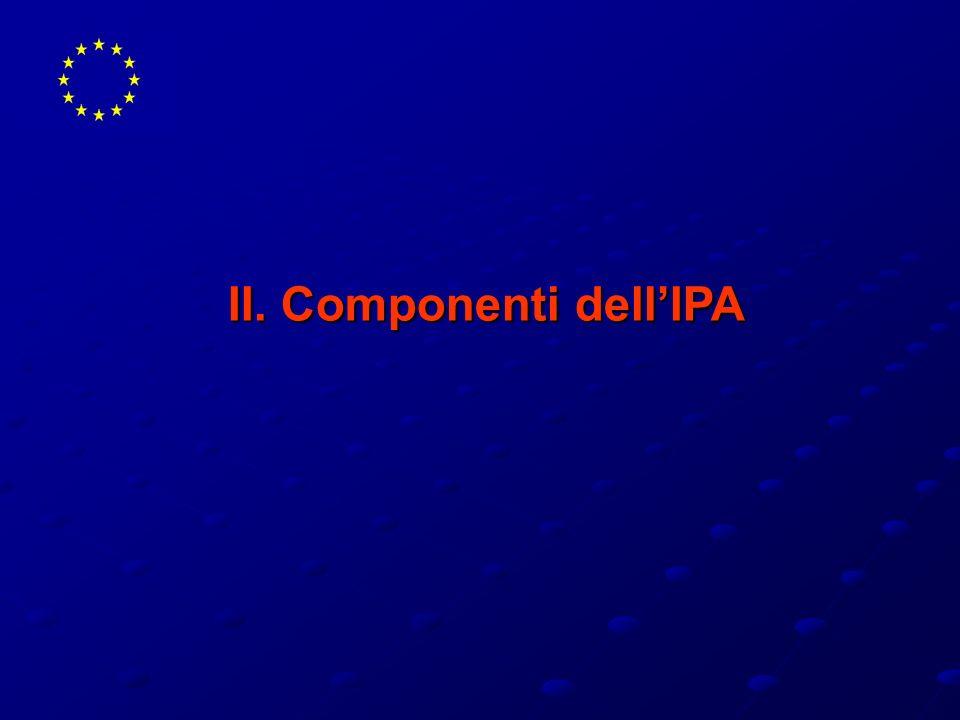Finanziamento indicativo per componente dell IPA (in milioni di )