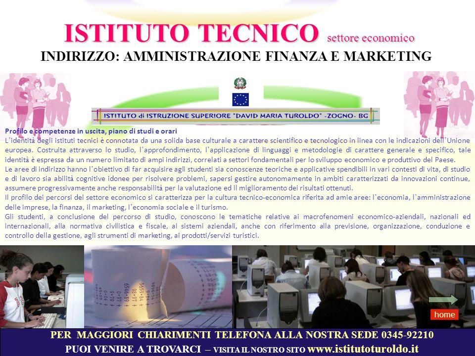 AMMINISTRAZIONE FINANZA MARKETING home Settore economico