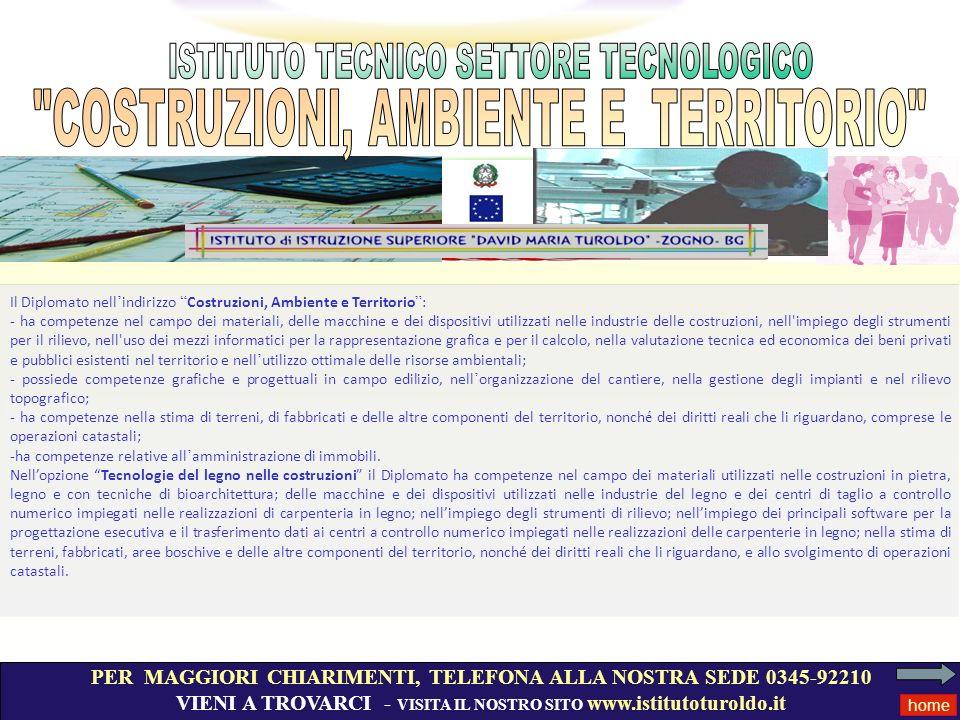 PER MAGGIORI CHIARIMENTI, TELEFONA ALLA NOSTRA SEDE 0345-92210 VIENI A TROVARCI - VISITA IL NOSTRO SITO www.istitutoturoldo.it home Il Diplomato nell