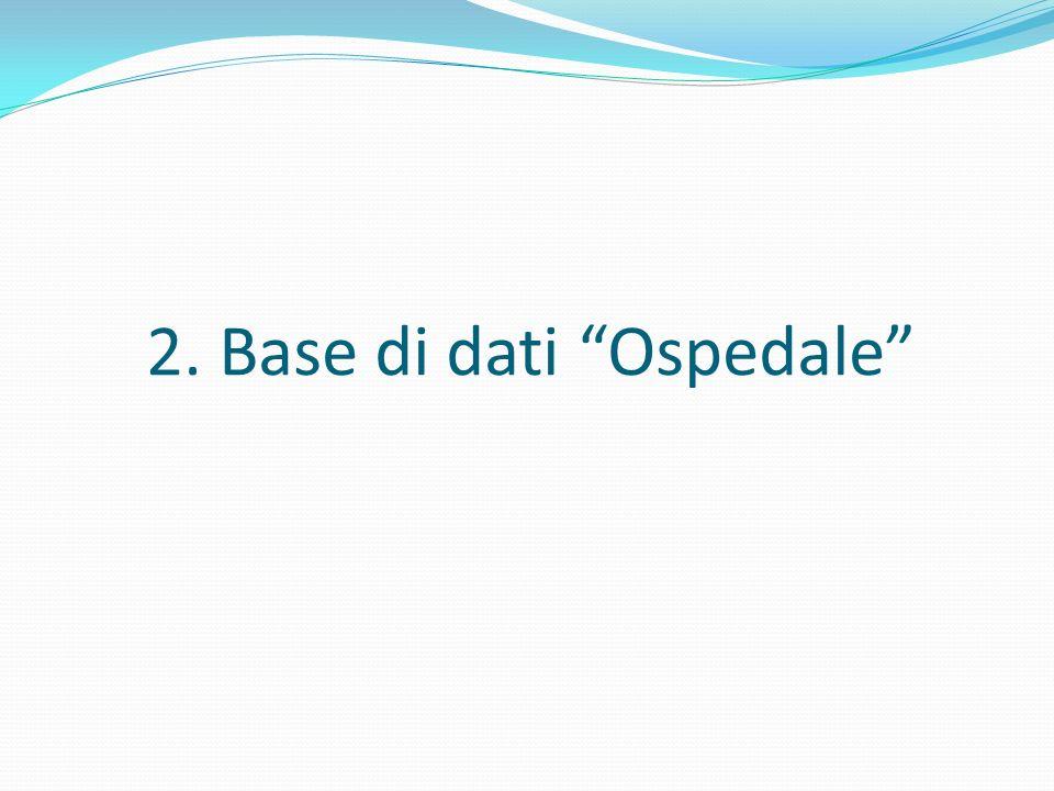 2. Base di dati Ospedale