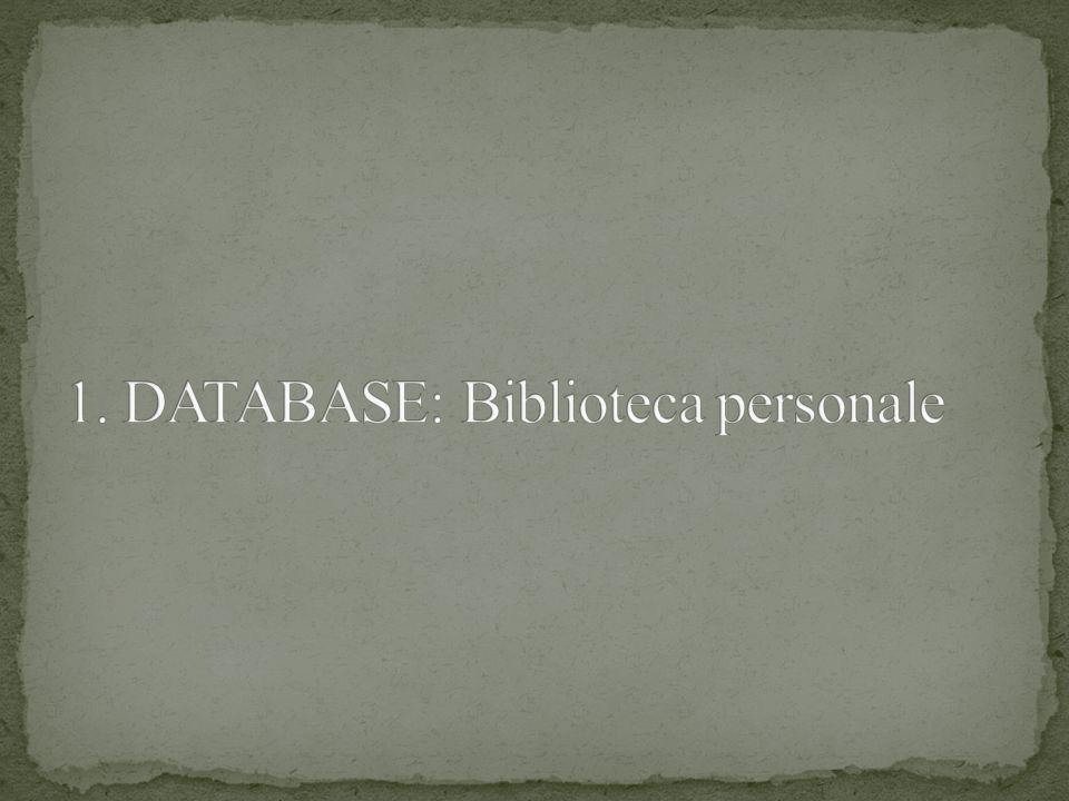 Si vuole progettare un database per la gestione di una biblioteca personale, dove il proprietario: Presta i libri ai suoi amici, annotati con nomi e soprannomi (per evitare omonimie); Si riferisce ai libri mediante i titoli (assenza di libri con titoli identici); Annota il prestito con la prevista data di restituzione