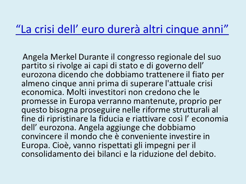 Dal 2008 a oggi la crisi ha stravolto l'economia europea. Gli equilibri sono stati più volte (e restano tutt'ora) precari. E la tenuta dell'euro è sta