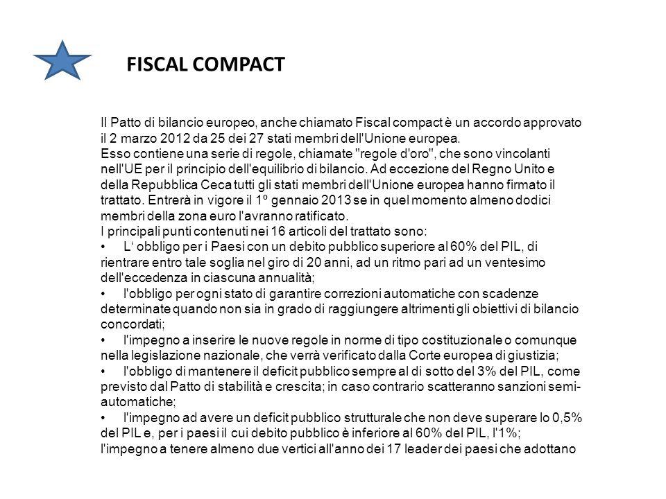 ESM Il fondo salva-stati europeo,approvato il 12/09/2012 dopo il sì della Corte tedesca, è oggi parte integrante dellUnione monetaria europea. È stato