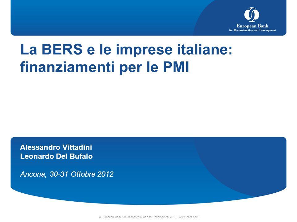 2 Agenda La BERS in generale Gli strumenti Local Enterprise Facility (LEF) WB Sustainable Energy Direct Financing Facility 09/04/2014