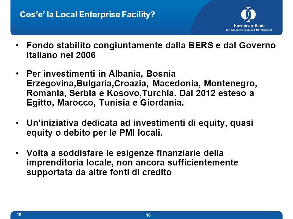 18 Cose la Local Enterprise Facility.