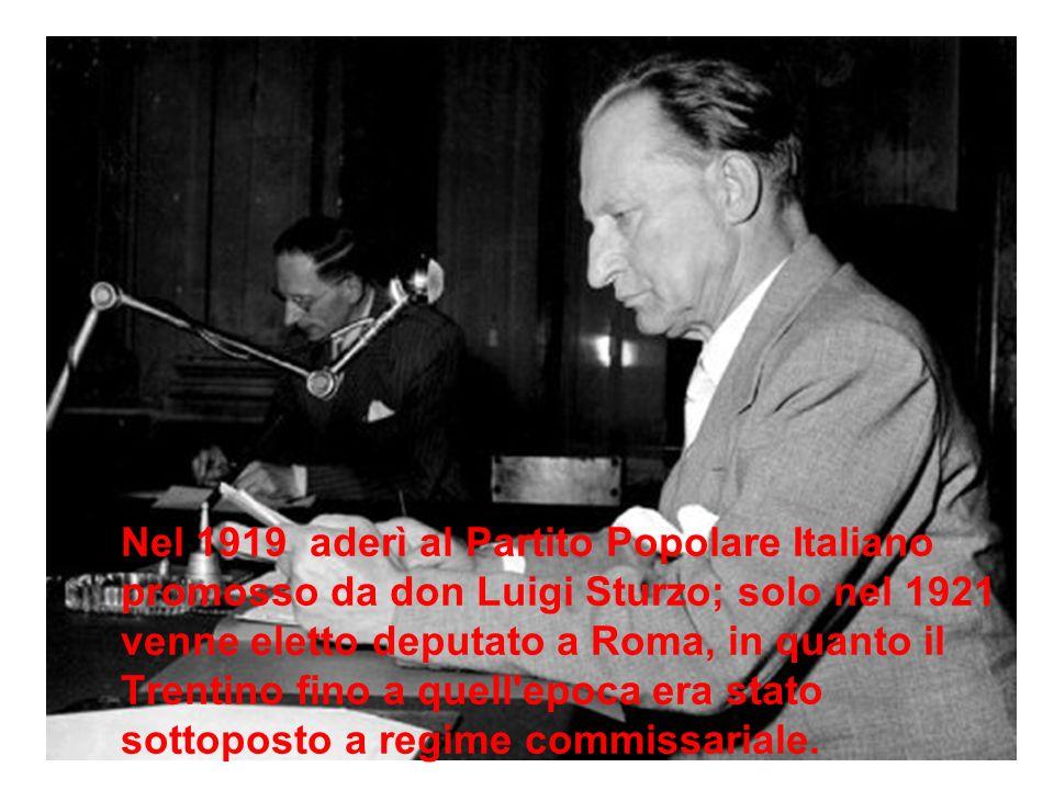 Nel 1922 si sposa con Francesca Romani nella chiesa arcipretale Di Borgo Valsugana