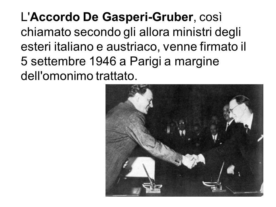 Il 10 agosto 1946 intervenne a Parigi alla Conferenza di pace, riuscendo a confinare le inevitabili sanzioni all ambito del disarmo militare, ed evitando la perdita di territori di confine come lAlto-Adige e la Valle dAosta..