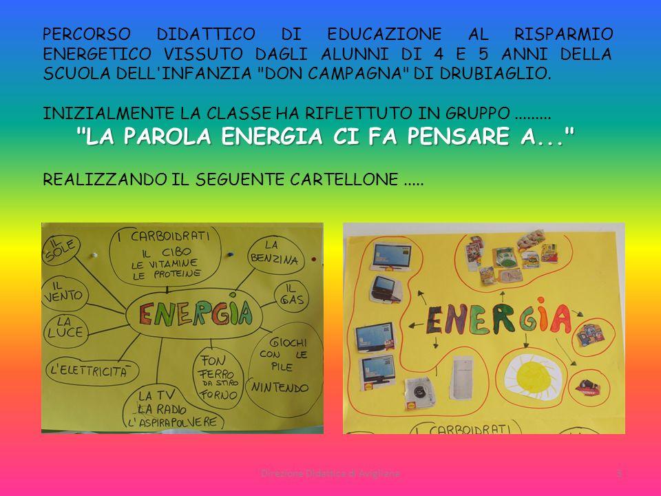 3 PERCORSO DIDATTICO DI EDUCAZIONE AL RISPARMIO ENERGETICO VISSUTO DAGLI ALUNNI DI 4 E 5 ANNI DELLA SCUOLA DELL'INFANZIA